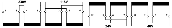 Low-profile encapsulated transformers serial-parallel connection